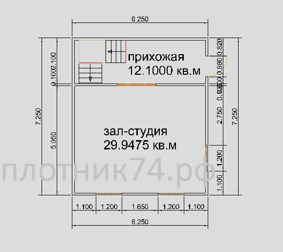 План дома.1этаж
